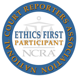 National Court Reporters Association Ethics First Participant